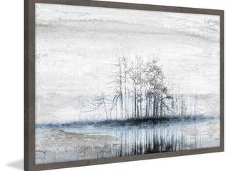 Handmade Tree Island Framed Print  Retail 216 99
