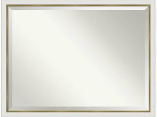 Porch   Den Katherine White Gold Narrow Bathroom Vanity Wall Mirror  Retail 229 99