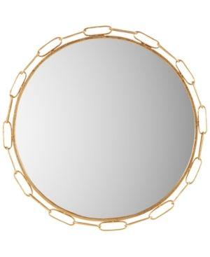 Madison Park Signature Chainlink Gold Finish Metal Frame Round Decor Mirror   38 5 w x 1 18 d x 38 5 h  Retail 99 99
