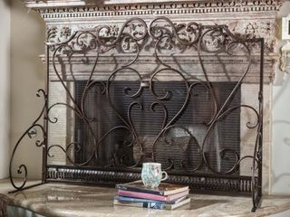 Christopher Knight Home Claridge Iron Fireplace Screen  Retail 131 99
