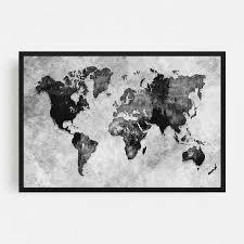 Atlas Black and White Journey Map Framed Wall Art Print  Retail 327 99