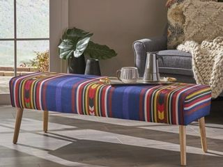 Safire Mid Century Boho Fabric Ottoman by Christopher Knight Home  Retail 139 99