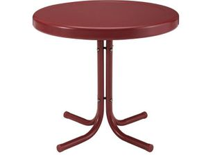 Crosley Furniture Retro Metal Side Table In Griffith Red