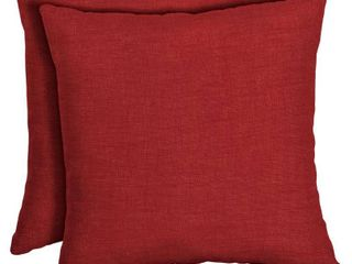 Arden Selections Ruby leala Texture Outdoor Square Pillow 2 Pack   16 in l x 16 in W x 5 in H