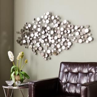 Olivia Mirrored Metal Wall Sculpture  Retail 128 99