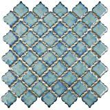 SomerTile 12 375x12 5 inch Antaeus Marine Porcelain Mosaic Floor and Wall Tile  10 tiles 10 7 sqft  Retail 132 94