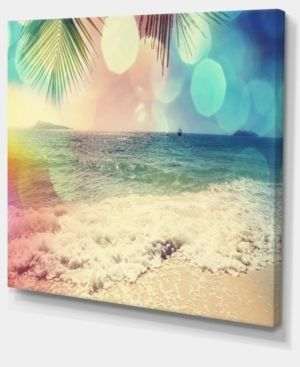 Colorful Serenity Tropical Beach   large Seashore Canvas Print  Retail 114 49