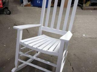 rocking chair white wood