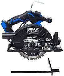 Kobalt 24v Max 7 1 4 in amp Brushless Cordless Circular Saw W  Brake Metal Shoe