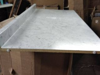 counter top grey and white 4 ft length by 26 inches width