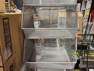 lot of  4  stackable mesh organizers