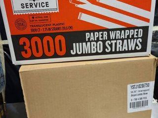 1 1 2 cases of straws