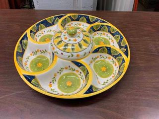 Sectional serving plate