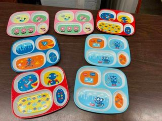 Kids sectional plates