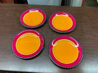 Decorative ceramic serving plates