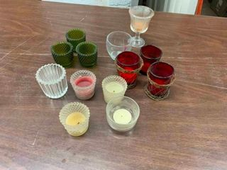 Variety of votive candle holders