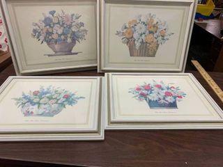 Set of 4 framed pictures