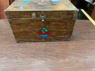 Vintage Boy Scout wood trunk
