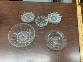 Vintage glass serving bowls