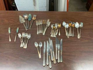 Variety of silver flatware