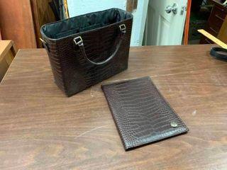 Woman s laptop bag with matching folder