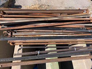 Metal bed frame rails