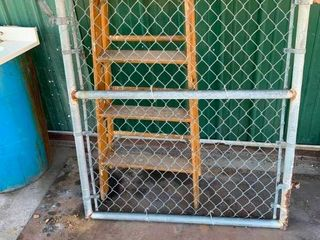 large chain link fence gate