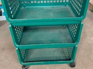 Plastic 3 tier cart