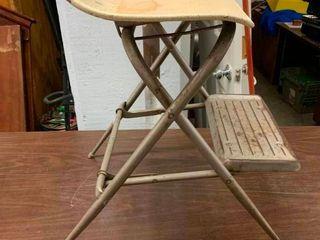 Vintage chair step stool