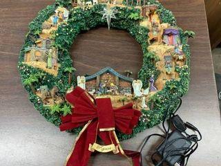 Resin birth of Jesus Nativity wreath