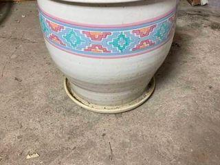 large porcelain plant pot