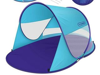 Multifun UPF 50  Easy Pop Up Beach Tent  large 3 4 Person Sun Shelter  Windproof Waterproof Family Beach Shade  Portable Beach Tent  Instant Sunshade Cabana Canopy with Carry Bag