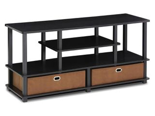 Furinno JAYA TV Stand for up to 50  TVs with Storage Bin