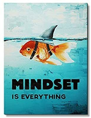 IKONICK Mindset is Everything Motivational Canvas Wall Art  Inspiration Collection for Office and Home Decor  Inspiring Canvas Art