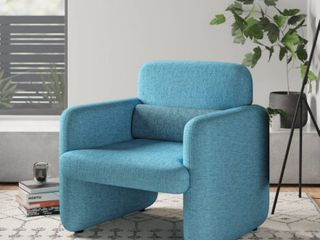Cartagena Woven Fabric Upholstered Armchair  Blue