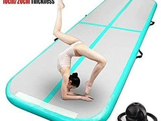 FBSPORT 13ft 16ft 20ft 23ft 26ft Inflatable Gymnastics Air Track Tumbling Mat 4 8 inches Thickness Airtrack Mats for Home Use Training Cheerleading Yoga Water with Pump 20 FT long
