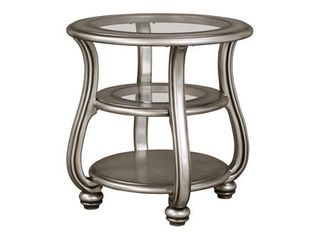 Coralayne End Table Silver Finish   Signature Design by Ashley