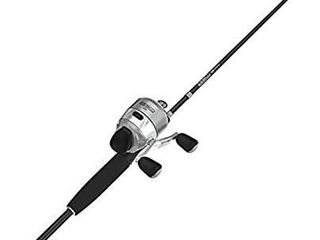 Zebco 33 Platinum Spincast Fishing Reel and 2 Piece Fishing Rod Combo  Graphite Rod with Comfort Rod Handle  Anti Reverse Instant Fishing Reel