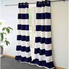 DriftAway Mia Stripe Room Darkening Grommet Top Window Curtain Panel Pair
