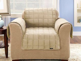 Sure Fit Deluxe Pet Ivory Chair Furniture Protector