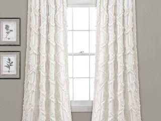 lush Decor Ruffle Diamond Curtain Panel Pair  Retail 76 48