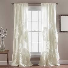 Silver Orchid Ince Flora Curtain Panels