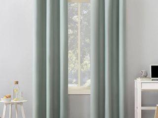 96 x40  Cyrus Thermal Total Blackout Grommet Top Curtain Panels Blue   Sun Zero