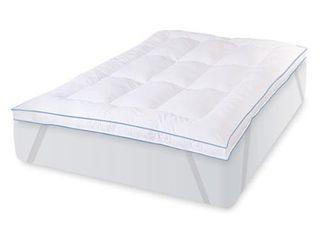 Swisslux Memory loft Deluxe Fiber with Blended Memory Foam Clusters Bed Topper  Retail 89 99