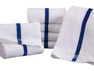 Martex Striped Pool Towels 6 Pack   20x40