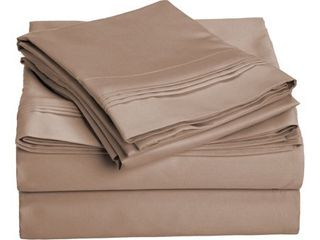 Superior Egyptian Cotton 1000 Thread Count Solid Deep Pocket Bed Sheet Set  Retail 132 49