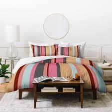 Natalie Baca Baja Mexicali Stripe Duvet Cover Set  Retail 185 49