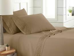 south shore fine linens vilano springs pleated sheet set queen microfiber brown