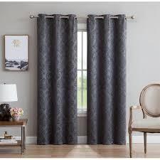 Gracewood Hollow Plakalo Embossed Thermal weaved Blackout Grommet Drapery Curtains  Retail 81 99