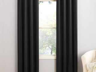 Sun Zero Grant 54  x 84  Grommet Top Curtain Panels